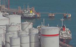 Oil tanks at day
